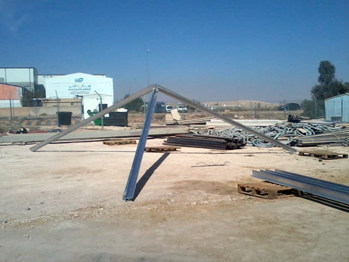 The making of a sculpture for the new Queen Alia International Airport