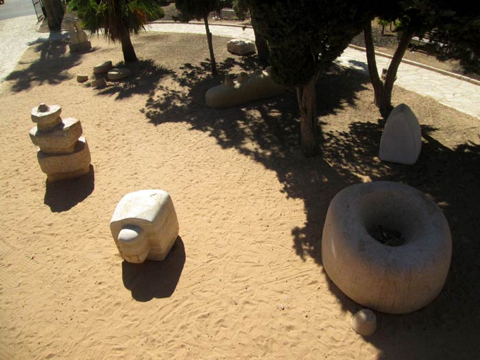 Five sculptures in the park..
