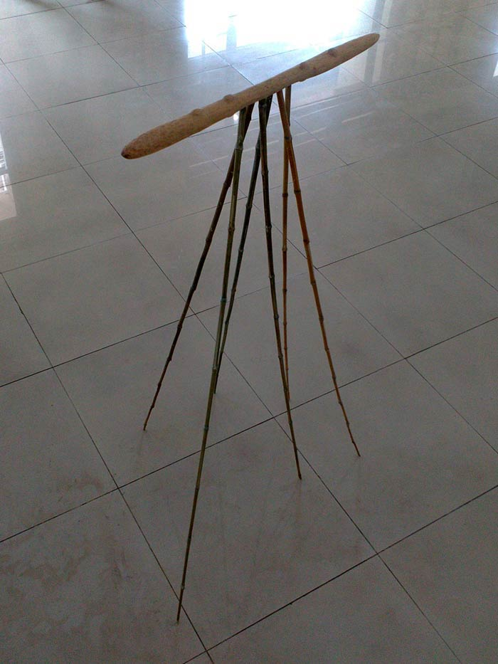 Wood and bamboo sculpture, Indonesia