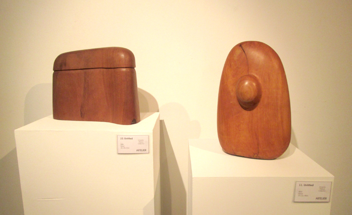 Wood abstract modern sculpture