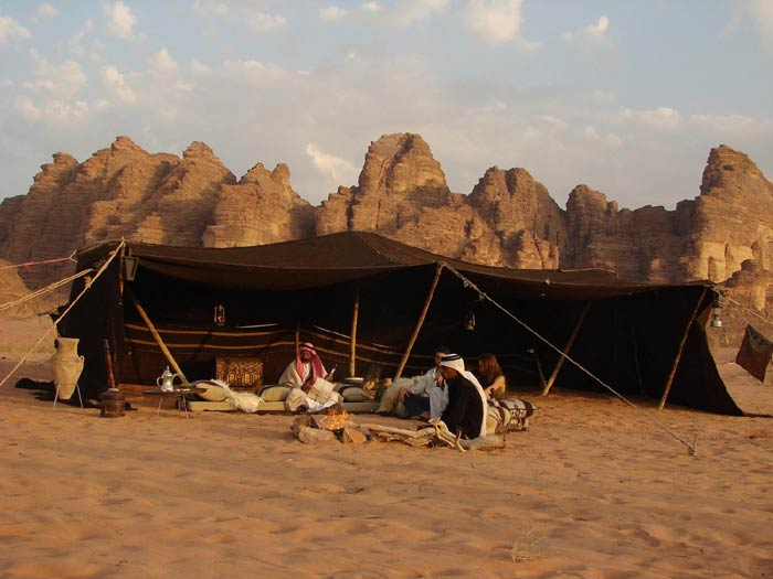 Bedouin tent for a commercial